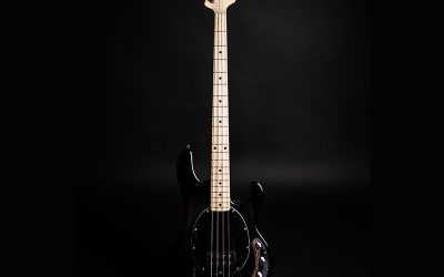 Ernie Ball Music Man Sterling Series Ray4 Bass Guitar – Black with Maple Kneck